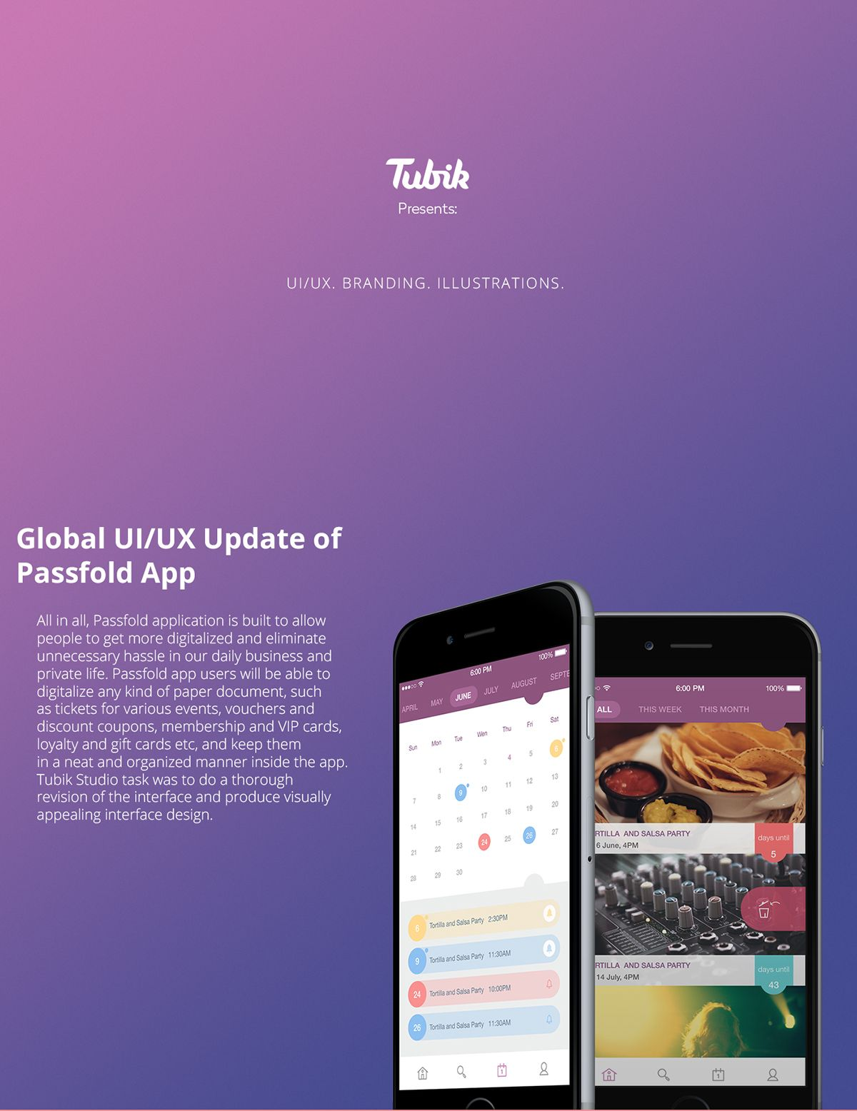Global UI/UX Update of Passfold App on App Design Served