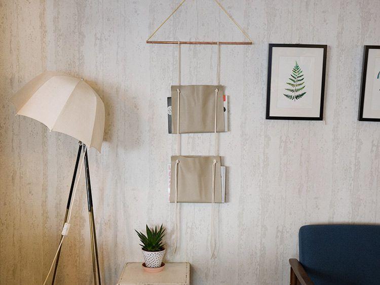 DIY Fabriquer un porte-revue mural en simili-cuir via DaWanda - ikea küche anleitung