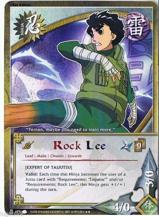 N-475 ROCK LEE Rainbow Letters Rare Naruto Card 1st edition | Naruto