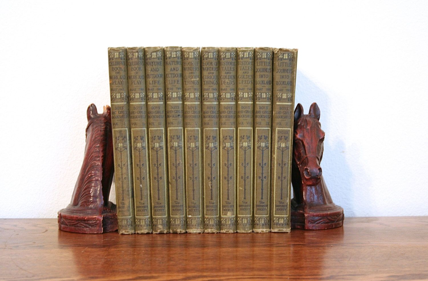 Antique 1912 Boys And Girls Bookshelf Complete Ten Volume Set Illustrated Hardcover Collectible By PacificBlueBooks On Etsy