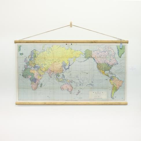 Large world map wall chart wish list pinterest large world map wall chart gumiabroncs Images