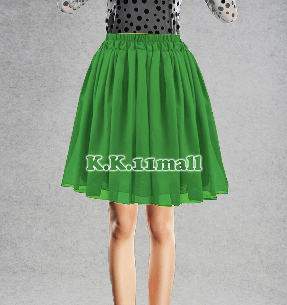 3b01828c8d Short Skirt Green ** Casual Wear Skirt Belly Dancing Pleated Short Skirts  C27 #Unbranded