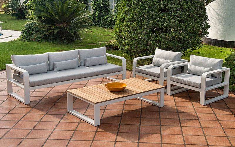 Patio Sofa Set Lounge Teak Ceramic Dining And Teak Bar Set