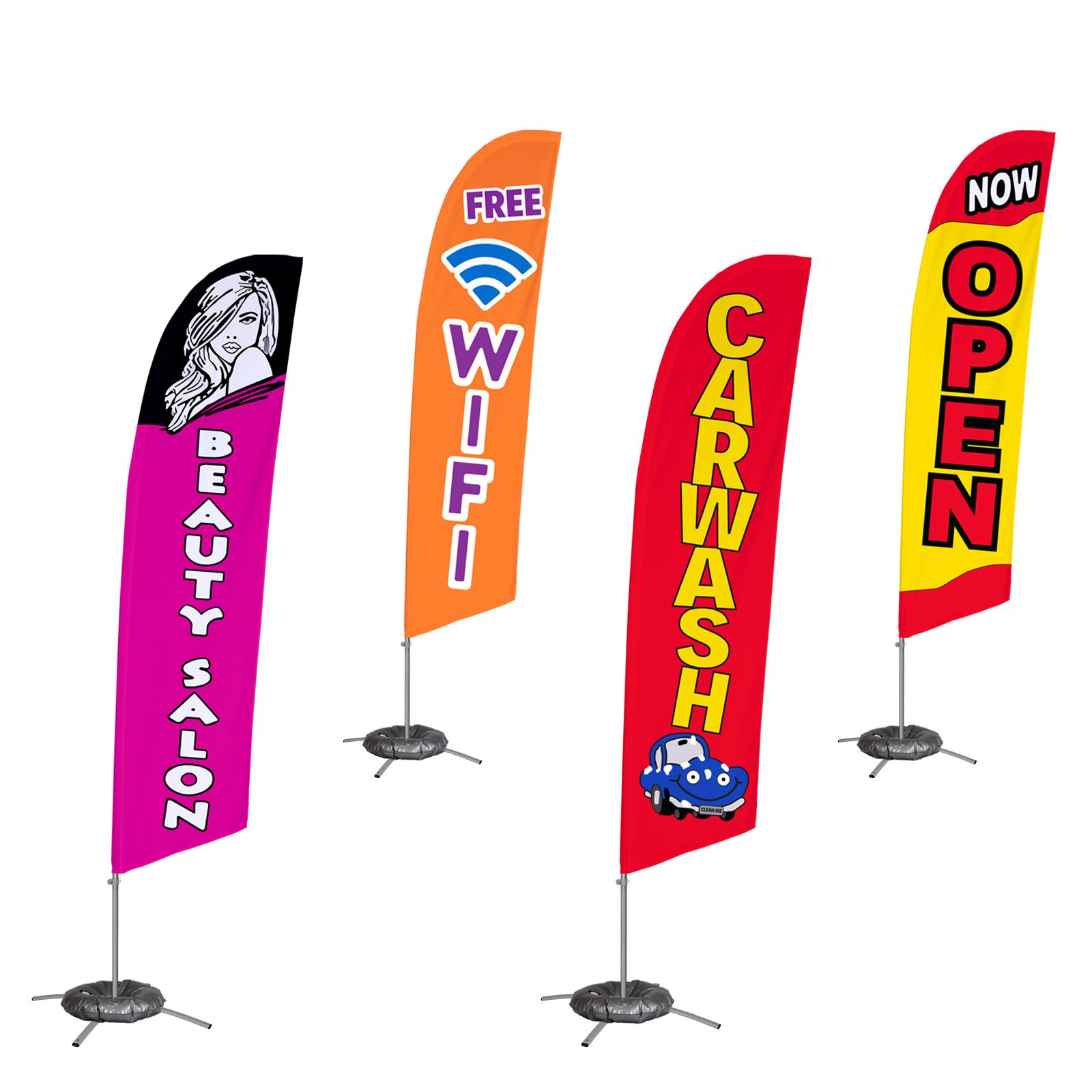 Business Flags Features Of Our Business Flags Include Basic And Plus Options Choose Between 13 And 13 5 Foot Heig Custom Feather Flags Flag Flags Banners