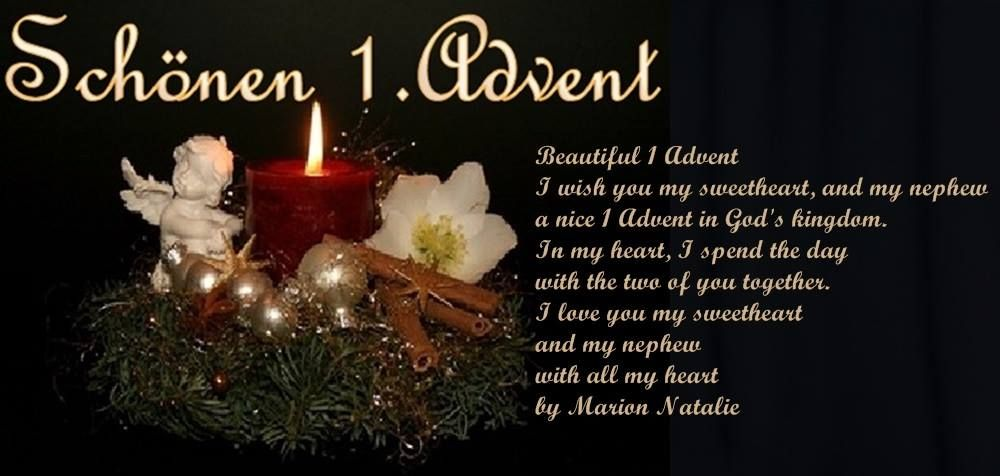 ❤ ❤ ❤ Schönen 1 Advent Ich wünsche dir mein Sch…   Natalie ...