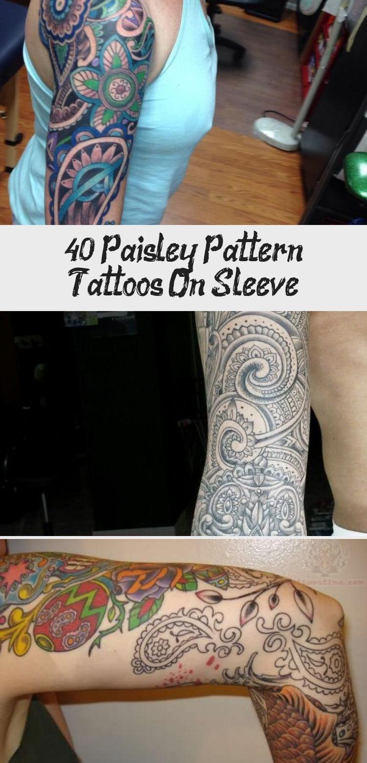 mandala upper arm tattoo | Mandala Flower With Paisley Pattern Tattoo On Right Half Sleeve