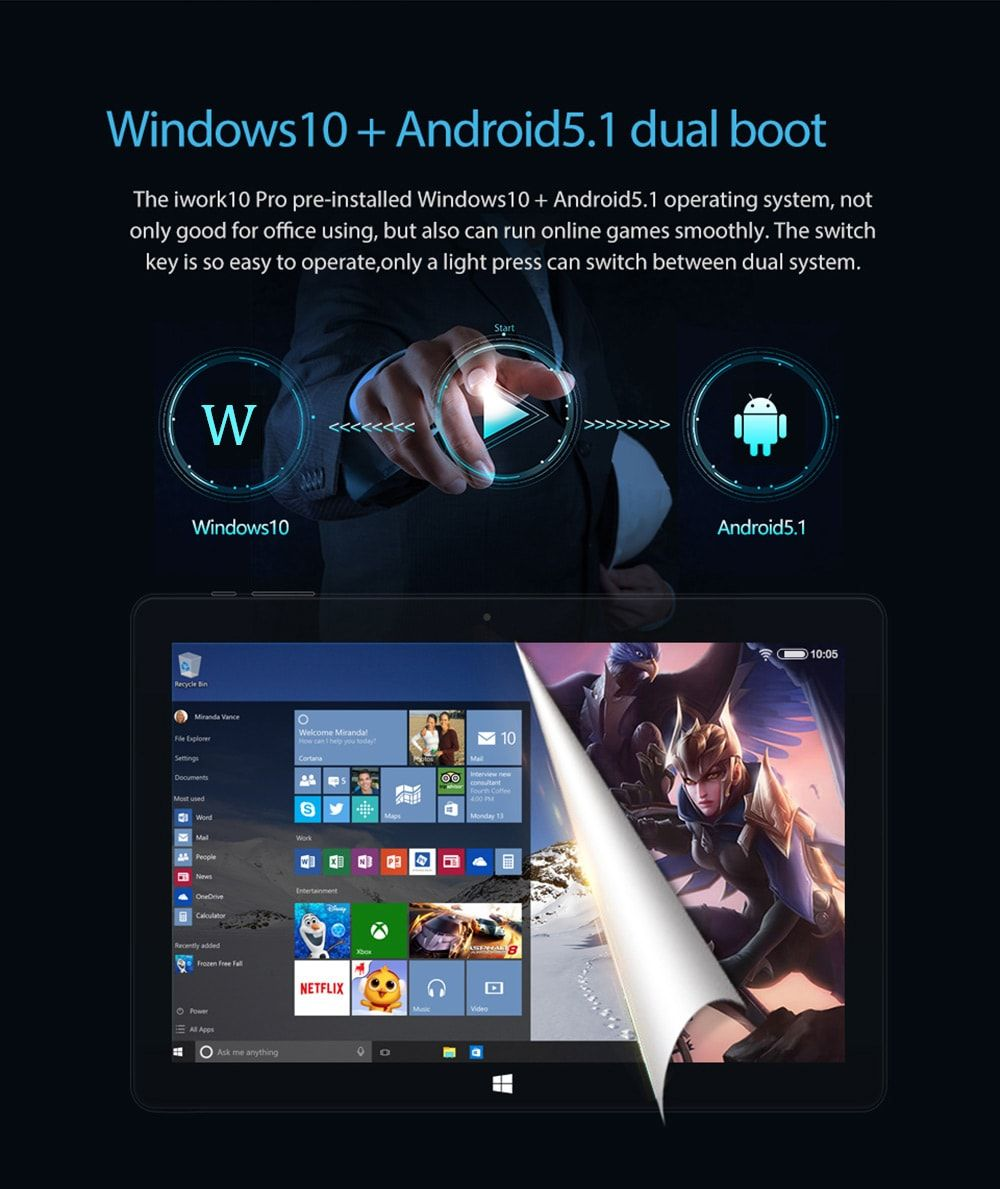 ALLDOCUBE iWork 10 Pro 2 in 1 Tablet PC | Tech Gifts | Tech gifts