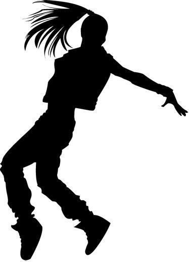 Resultado de imagen para siluetas bailando hip hop