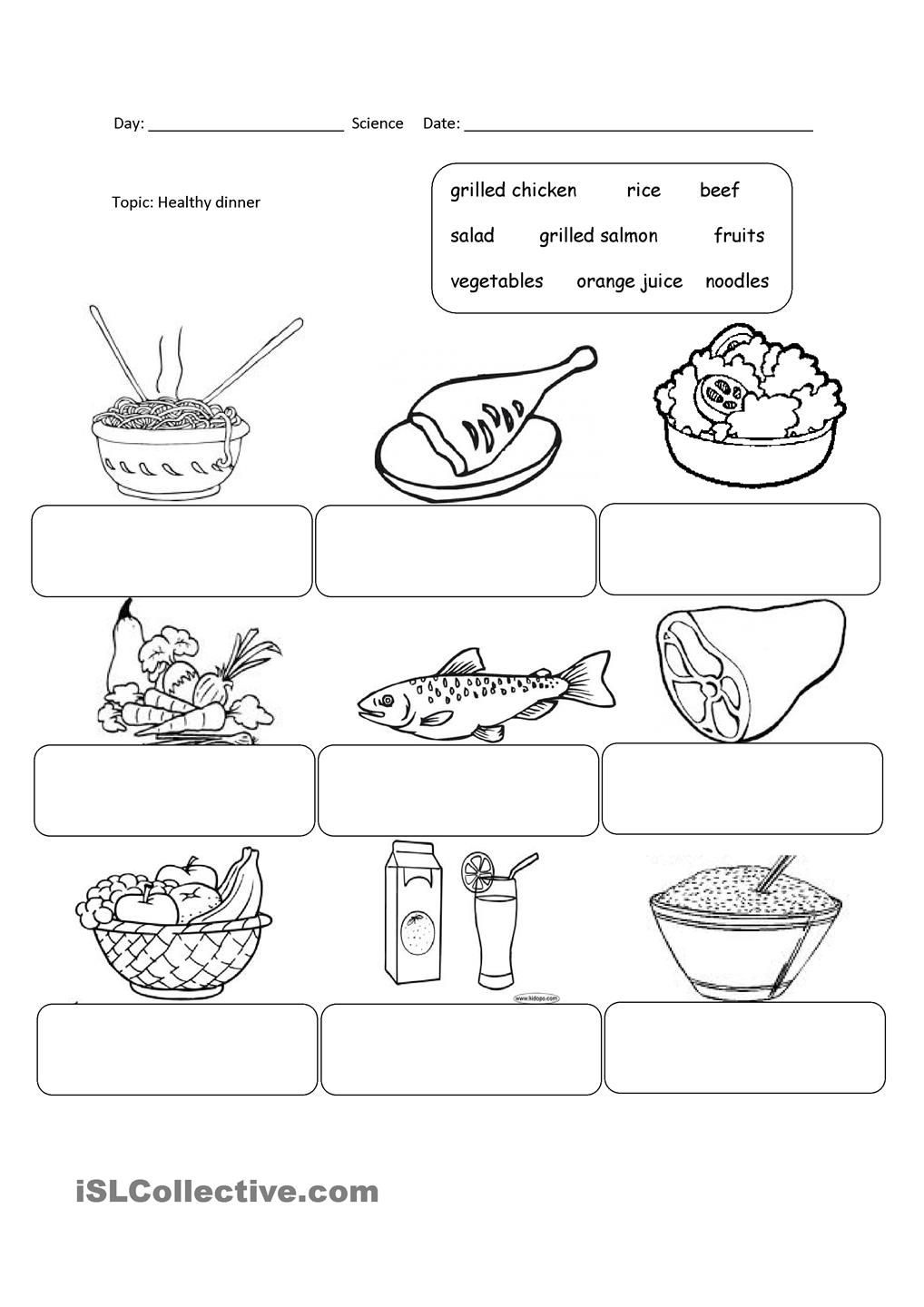 worksheet Healthy Food Worksheets healthy food pinterest worksheets and english food
