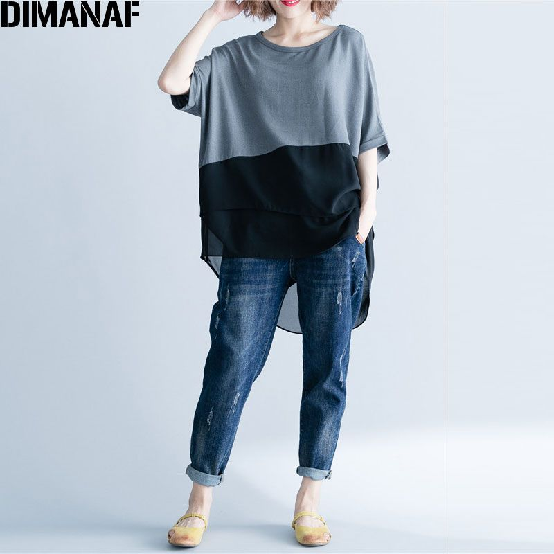 Cheap T Shirts Buy Directly From China Suppliers Dimanaf Women T Shirt Summer Plus Size Chiffon Patchwork Eleg Basic Tops Casual T Shirts For Women Basic Tops