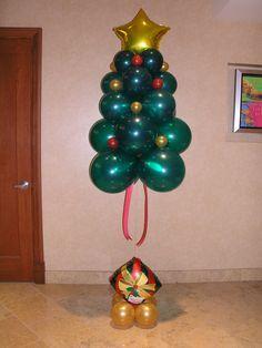 column balloons christmas - Buscar con Google