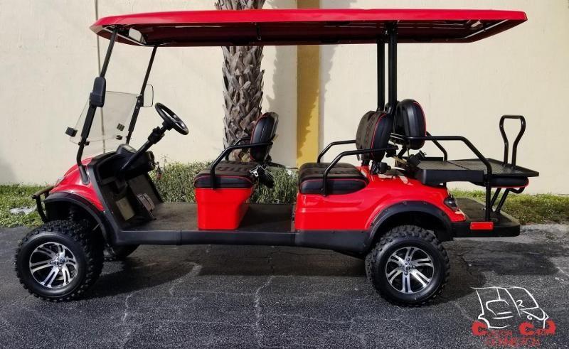 2020 Icon I60l Red Golf Cart W Custom Seats Custom Golf Carts And Golf Cart Custom Builds In West Palm Beach Fl E In 2020 Electric Golf Cart Golf Carts Custom Golf