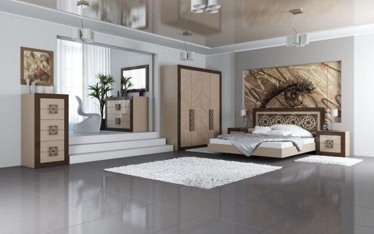 Chambre à coucher adulte \u2013 127 idées de designs modernes Chabby - peindre le carrelage sol