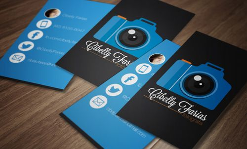 Photography business card design carto de visita pinterest photography business card design reheart Images