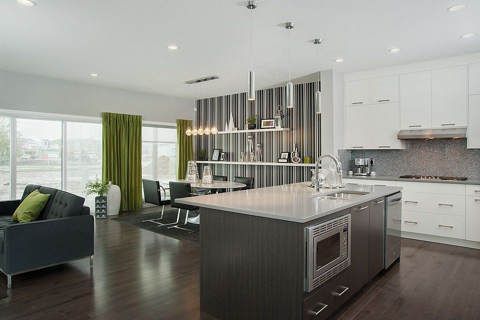 Show Home Sheffield In Walden  Excel Homes Calgary  Kitchen Cool Kitchen Design Sheffield Decorating Inspiration