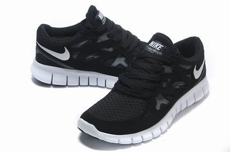 e25cd3218870 Black White Nike Free Run 2 Womens Running Shoe