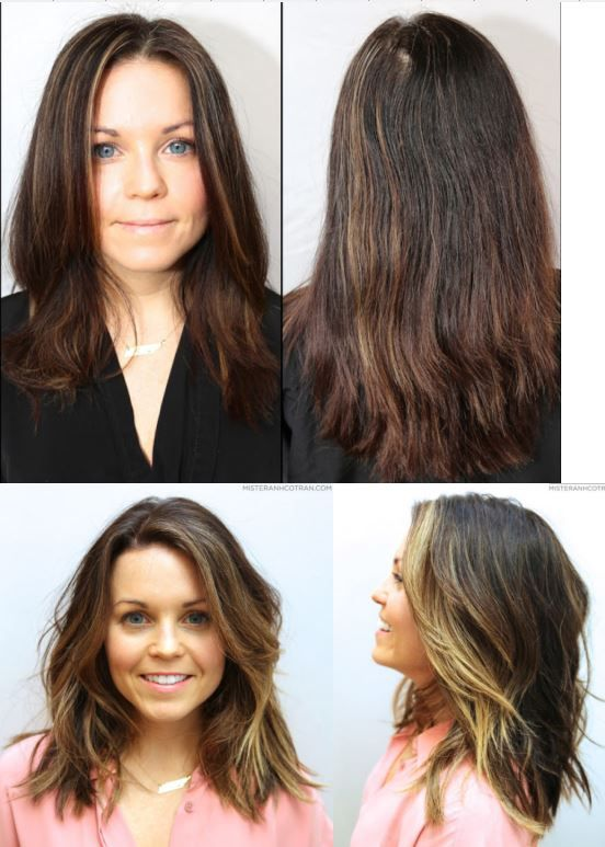 haircut and color = before and after, hair makeover, hair by Anh Co Tran - Haircut And Color = Before And After, Hair Makeover, Hair By Anh