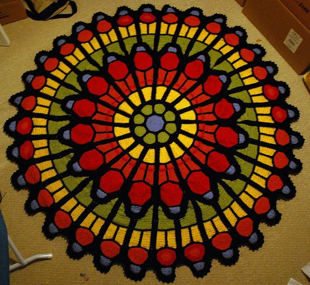 Cathedral rose window afghan pattern by julene watson afghan ravelry project gallery for cathedral rose window afghan pattern by julene watson dt1010fo