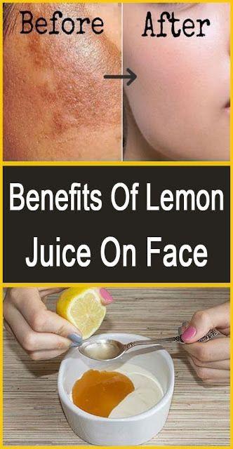 Lemon juice and brown sugar facial