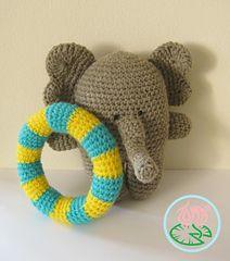Amigurumi Elephant, Summer Style by Tamara Lazaridou