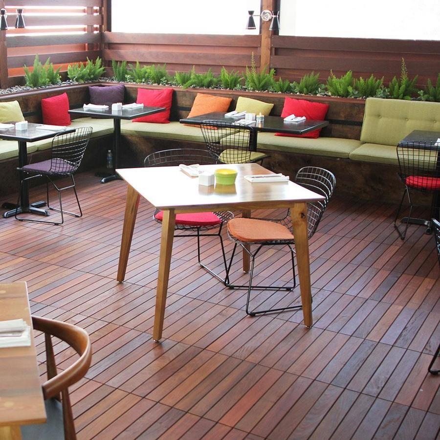 DeckWise Solid Smooth Ipe Hardwood Deck Tile 24