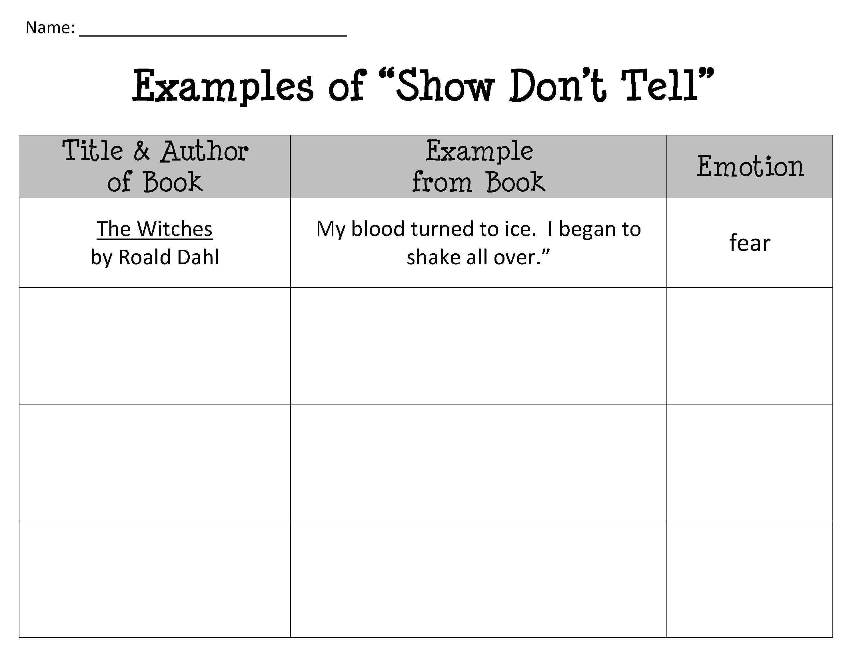 Vocabulary Interview Worksheet