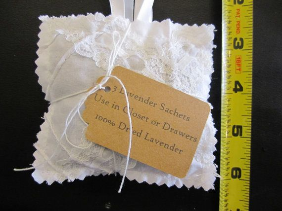 3 Pack 100% Organic Lavender Sachets 3 for Drawers by WhimsiLand