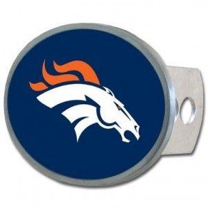 Denver Broncos Metal Hitch Cover
