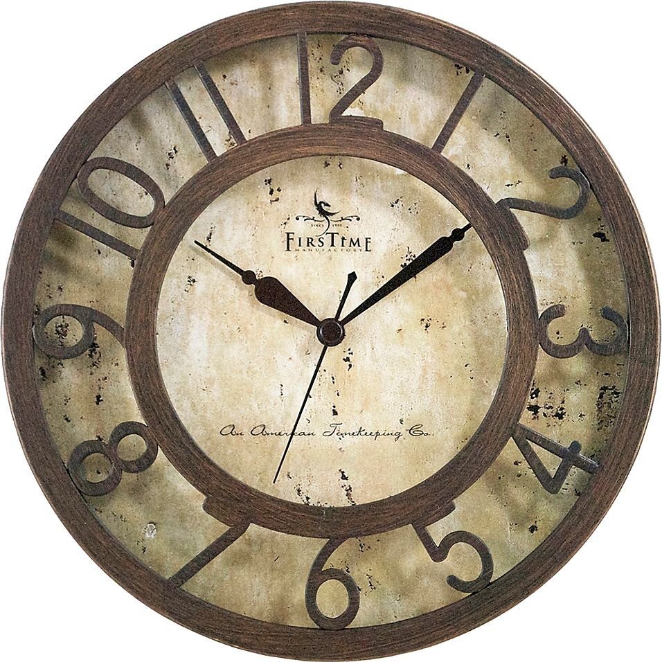 Firstime Brown Crackle Wall Clock In Oil Rubbed Bronze In 2020 Clock Wall Clock Online Oil Rubbed Bronze