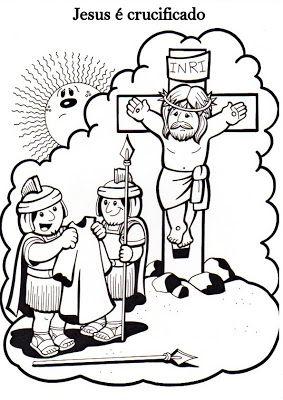 Via Sacra Para Colorir Historia Da Pascoa Artesanatos Biblicos