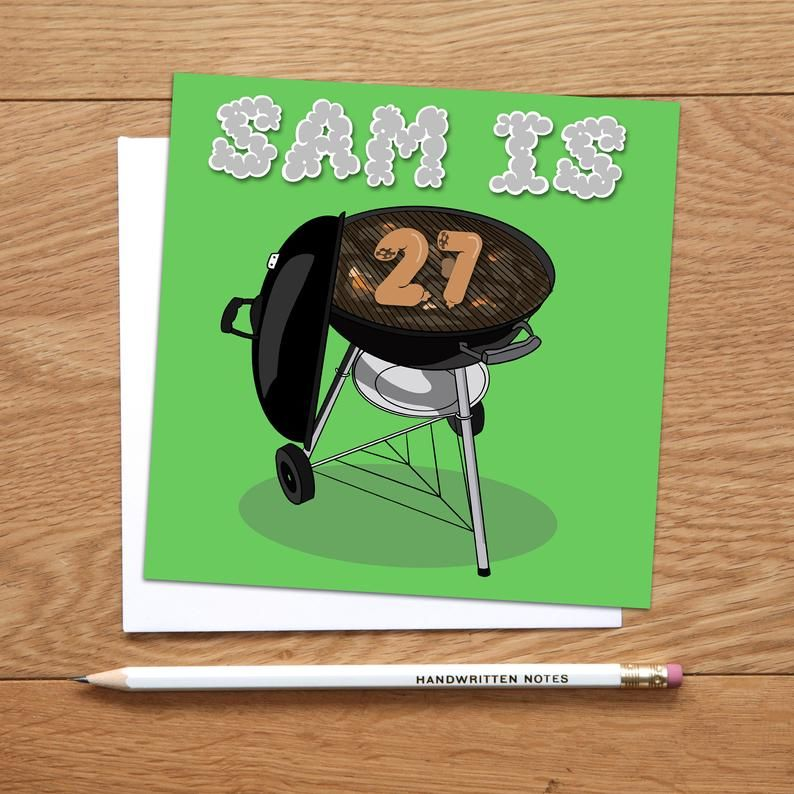 Bbq Birthday Card Personalised Barbeque Birthday Card Etsy Birthday Bbq Birthday Cards Funny Birthday Cards