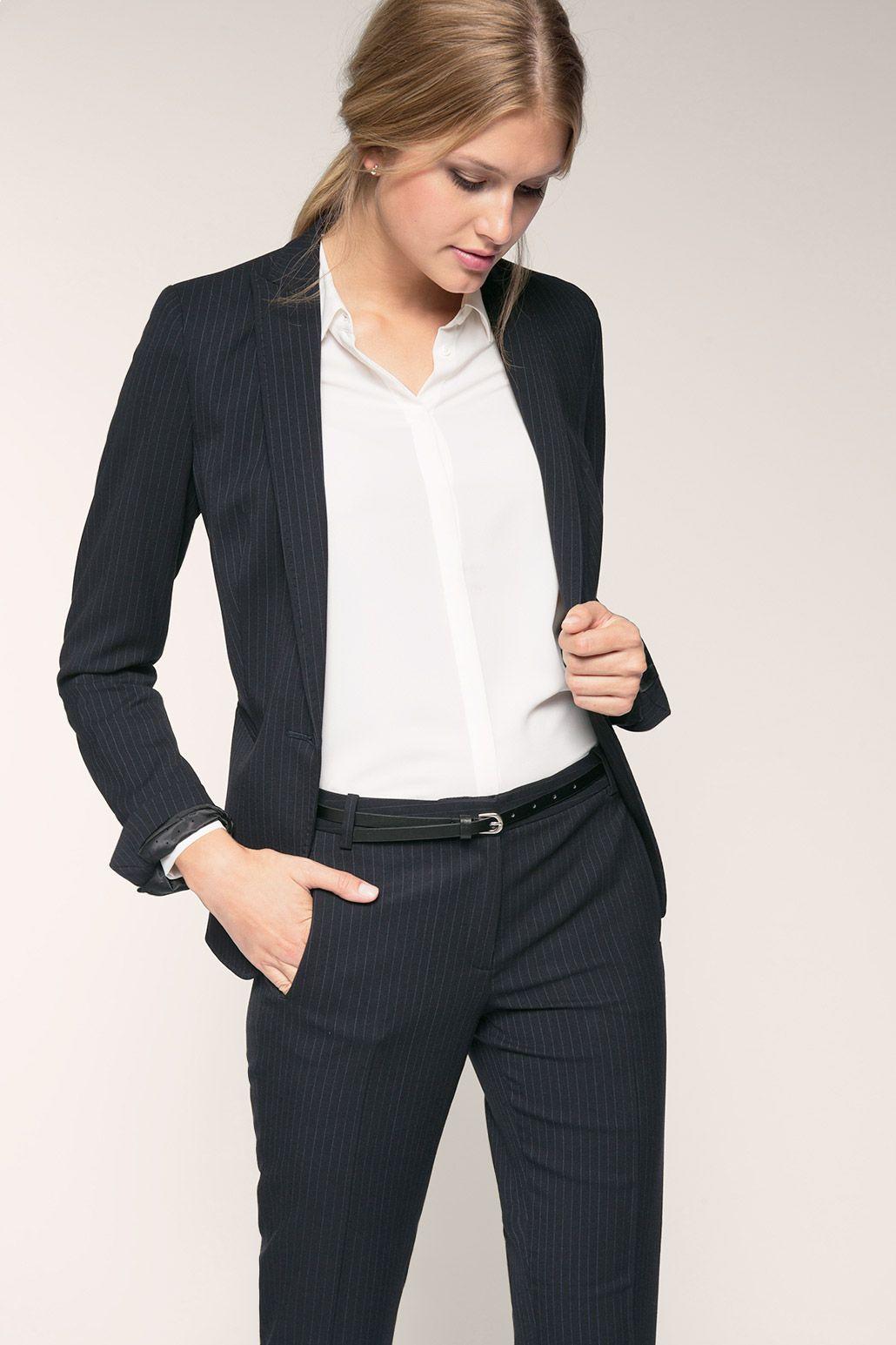 Esprit - Businessblazer met krijtstrepen kopen in de online shop