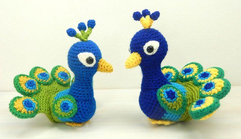 Paksha the Peacock crochet pattern by Moji-Moji Design | Amigurumi ...