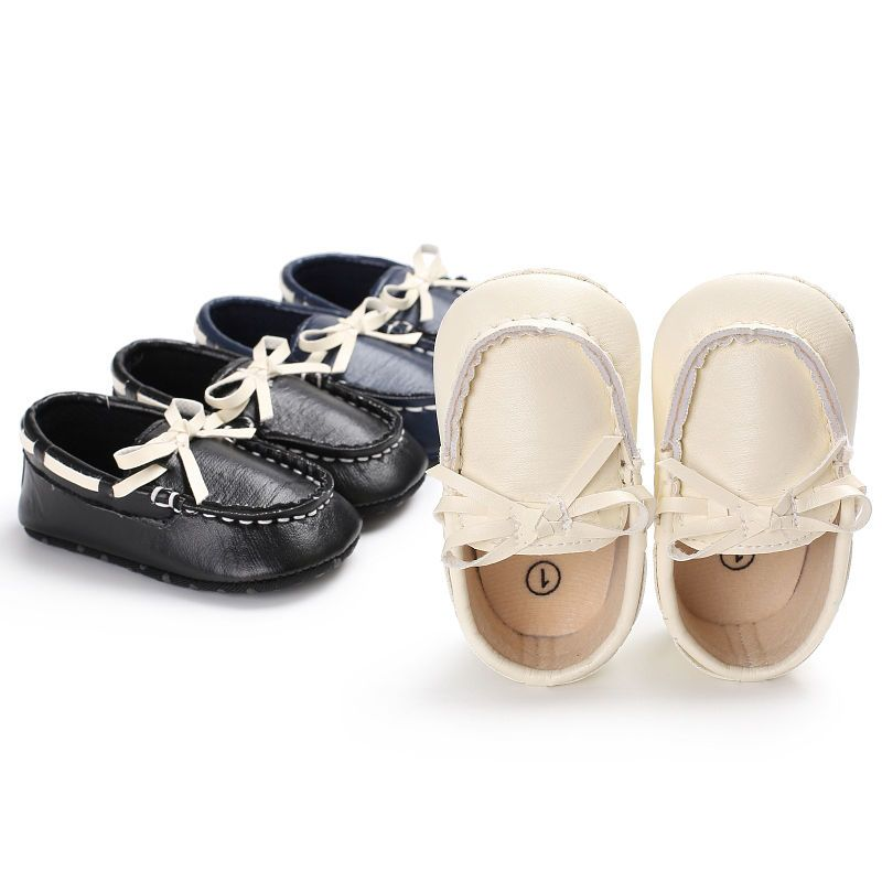 4.59 - Newborn Baby Boy Faux Leather Boat Crib Shoes Toddler Prewalker First  Shoes 0- 7535c9659cfa