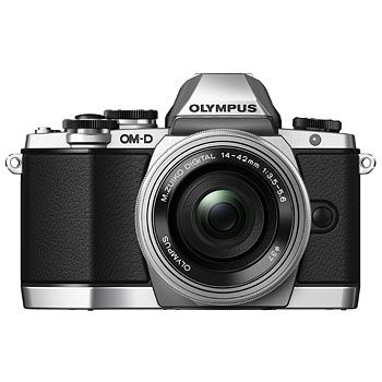SLR CAMERA Olympus E-M10 OM-D silver + M.Zuiko Digital 14-42/3,5-5,6 II R