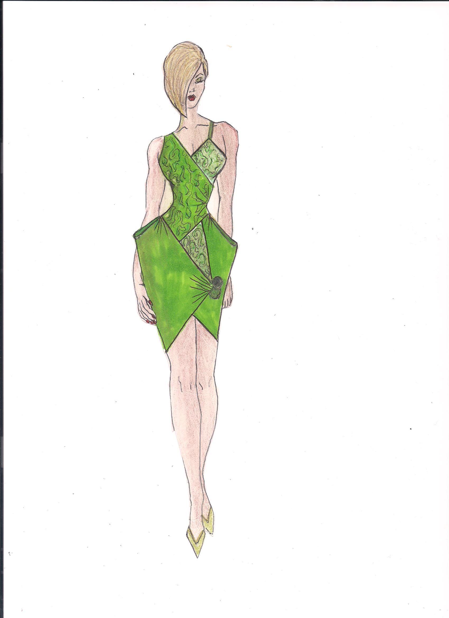 Green Envelope Dress