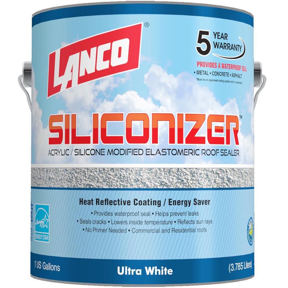 Lanco 1 Gal Siliconizer Elastomeric Roof Coating Rc200 4 The Home Depot In 2020 Roof Coating Elastomeric Roof Coating Rubber Roof Coating