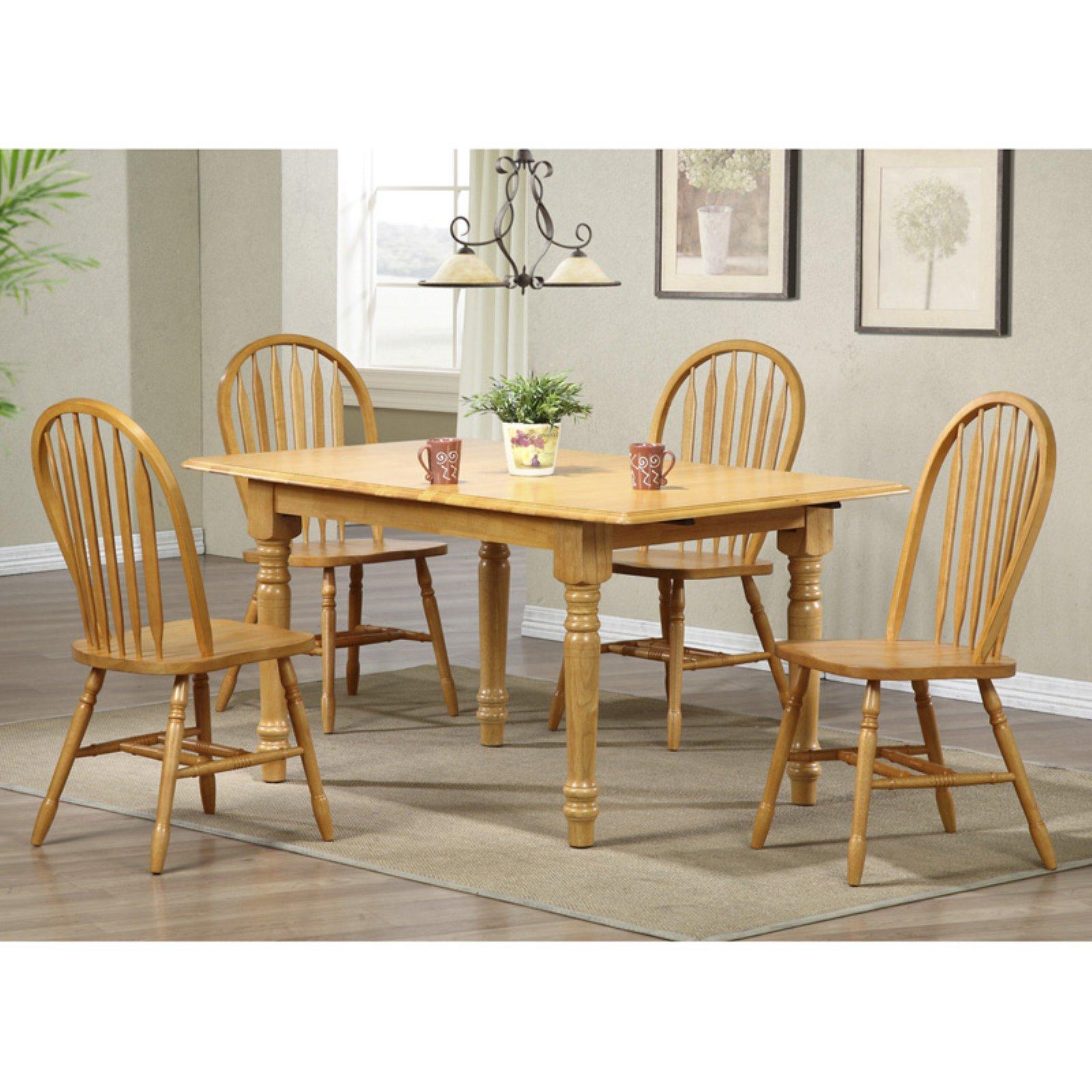 sunset trading 5 piece pedestal extension dining set with arrowback rh pinterest com