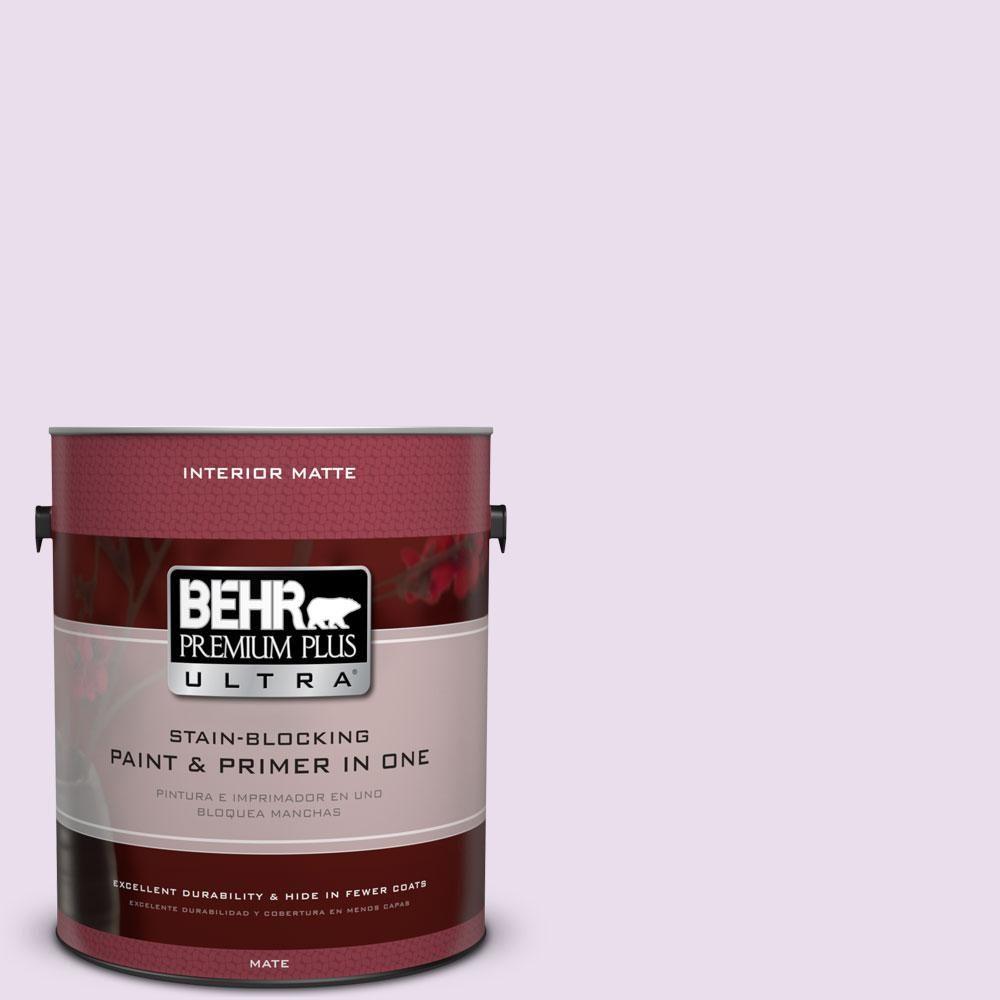 BEHR Premium Plus Ultra 1 gal. #650A-2 Ice Ballet Flat/Matte Interior Paint