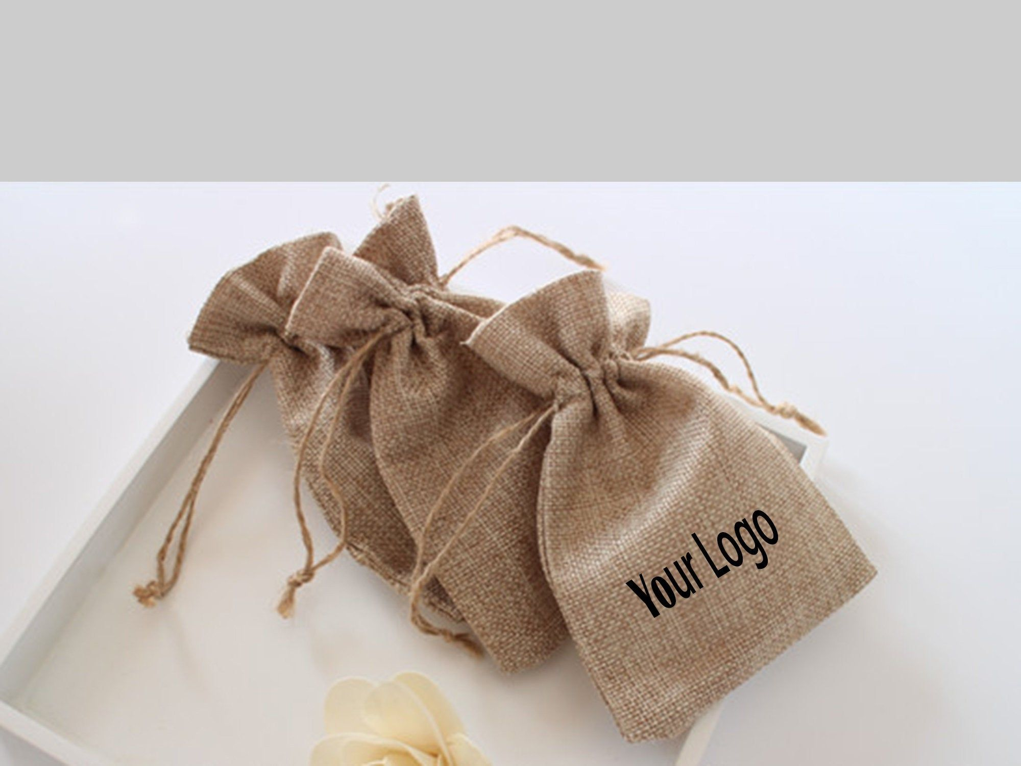 Wedding Favor Velvet Bags Jute Gift Bag Jewelry Packaging Drawstring Pouch