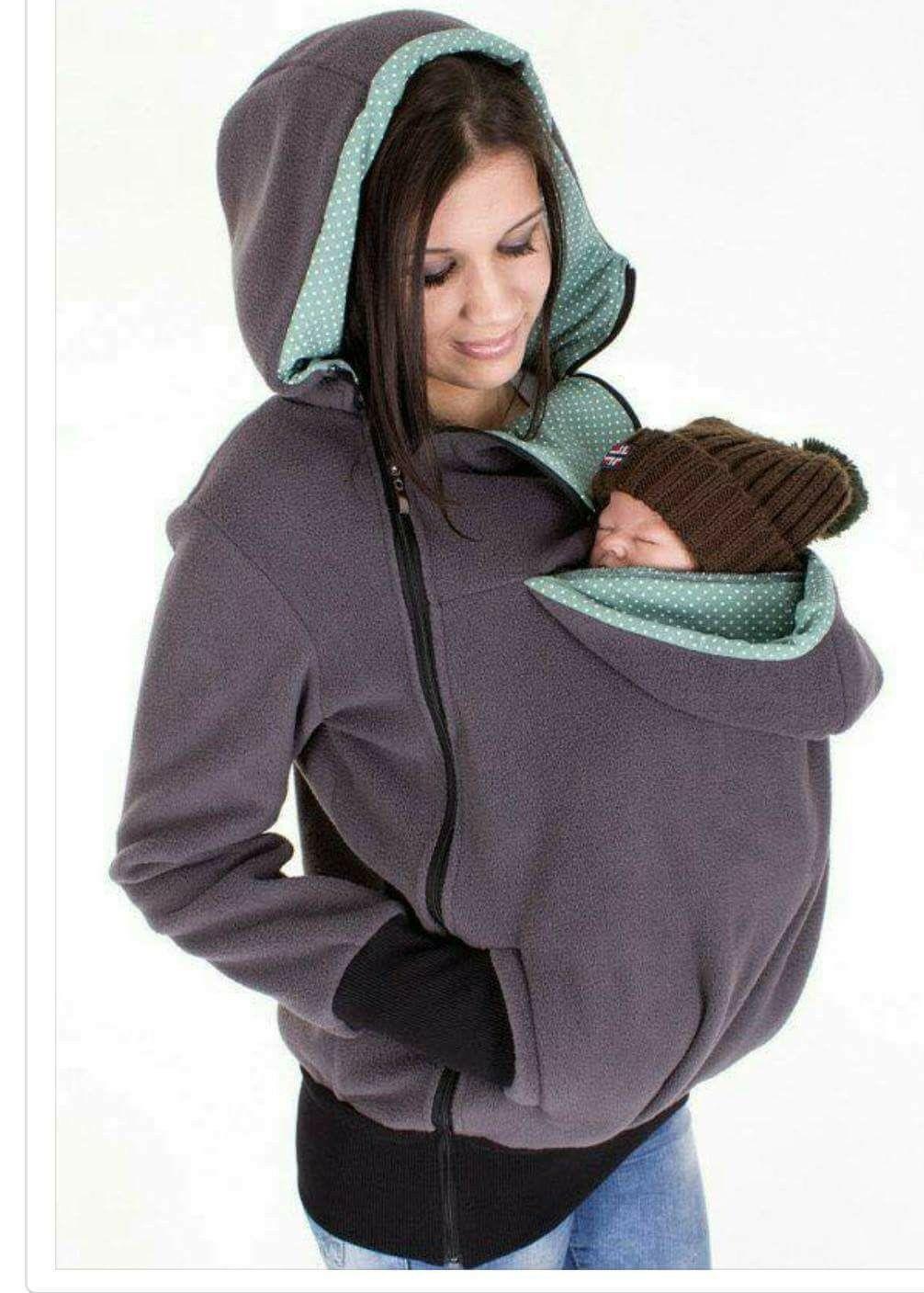 47995e55015 Fleecetröja för mamma och bebis. Fleecetröja för mamma och bebis Baby  Wearing, Hooded Jacket, Vest ...