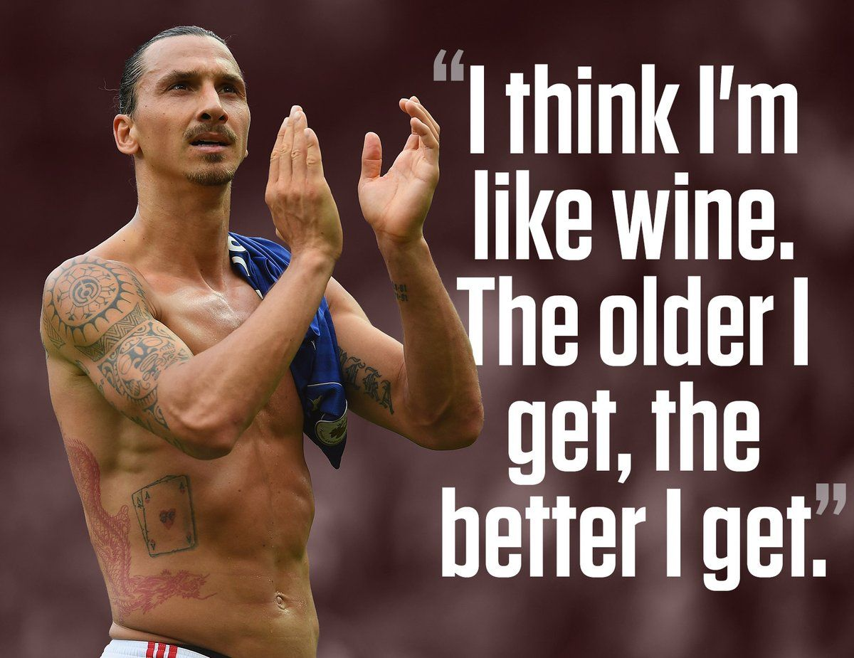 Zlatan Ibrahimovic Entertains Both On And Off The Field On His 35th Birthday We Compiled 35 Of His Best Quotes Zlatan Ibrahimovic Zlatan Memes Zlatan Quotes