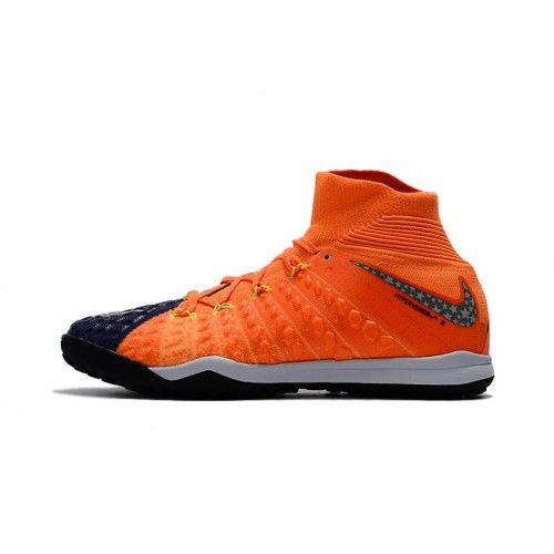 the latest 96194 dcf33 Hot 2017 Nike Hypervenom Phantom III DF TF Orange Blue Football Shoes