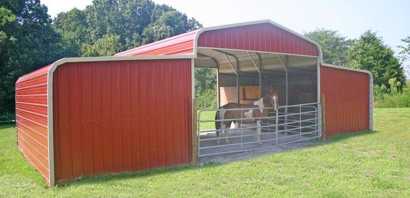 Turn a Carport Into a Barn Metal horse barns, Horse