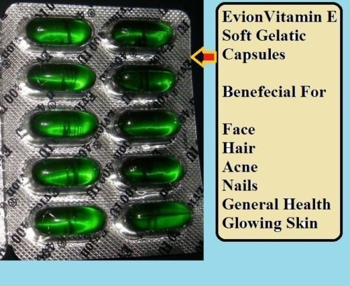 Artcollectibles India 100 Evion Capsules Vitamin E For Glowing Facestrong Hairacnenails Glowing Skin 400mg Clic Healthy Face Skin Hair Skin Nails Face Hair