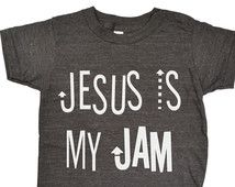 Jesus Is My Jam Tee, Toddler t-shirt, Infant shirt tank, Trendy kids clothes, Hipster kids clothes, god, christian, raglan, long sleeve