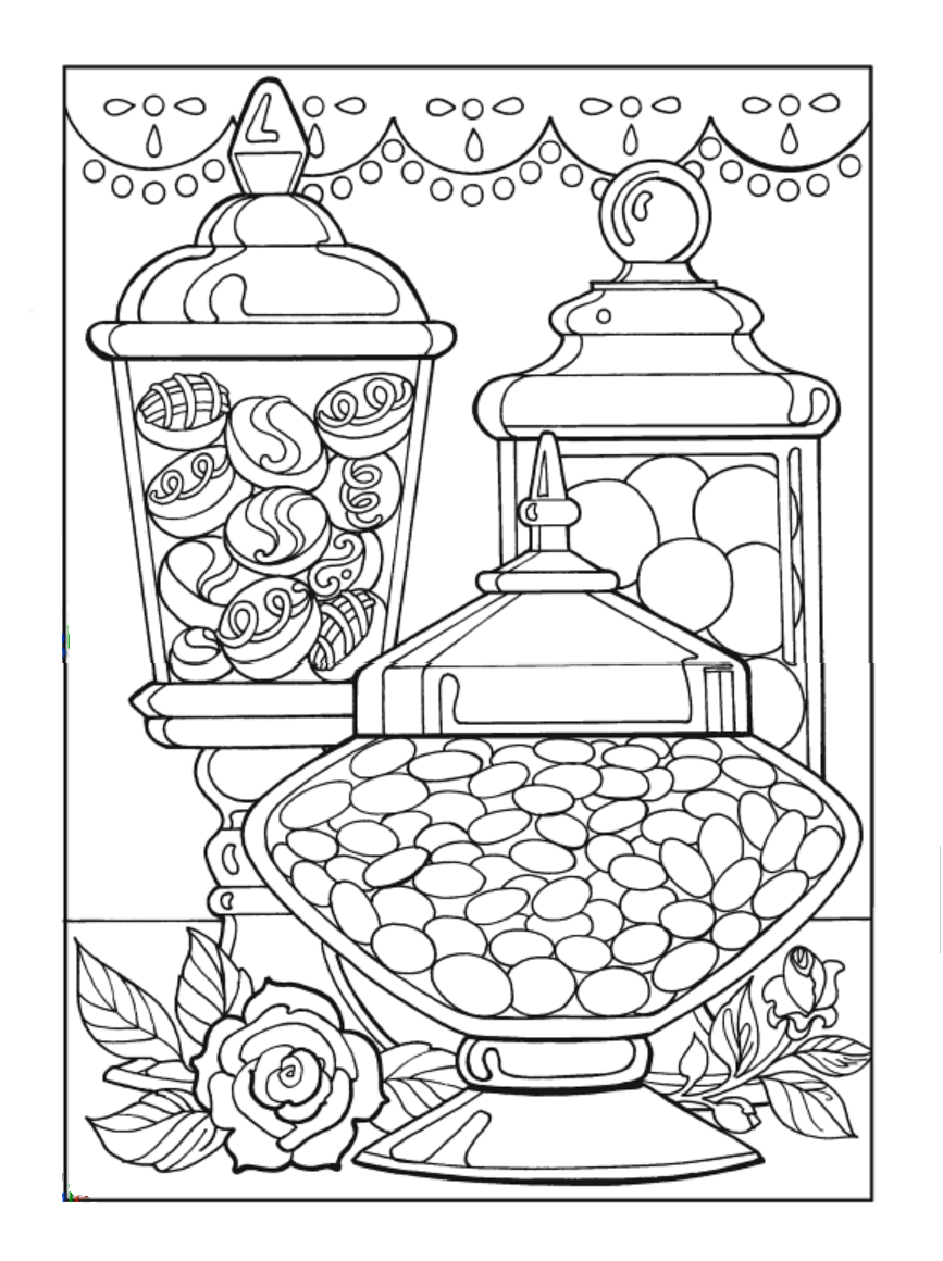 Creative Haven Designer Desserts Coloring Book by Eileen