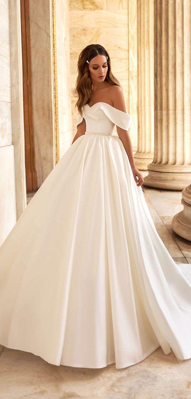 Elegant Off the shoulder wedding dress inspiration – ○°•[clothes]•°○