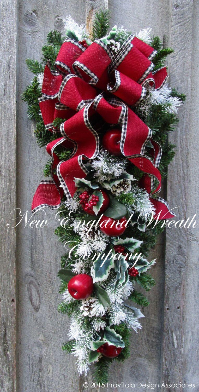Christmas Swag Holiday Wreath Apple Swag Williamsburg