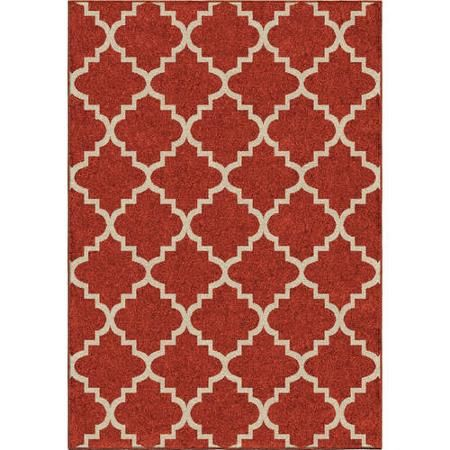 Tunnis Area Rug Cherry Red Walmart Com Area Rugs Red Area